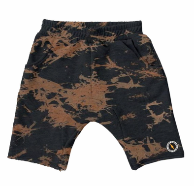 Tiny Whales - Canyon Shorts in Black Bleach