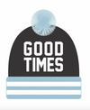 Tiny Whales Good Times pom beanie