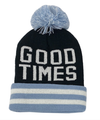Tiny Whales - Good Times Pom Beanie in Blue
