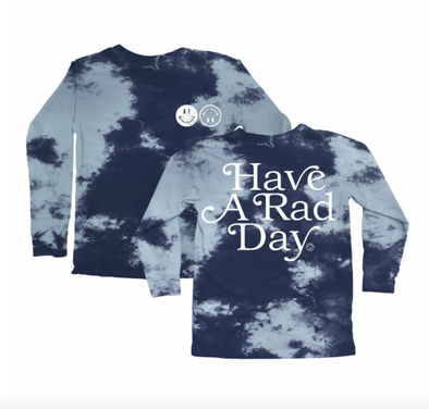 tiny whales have a rad day tie dye