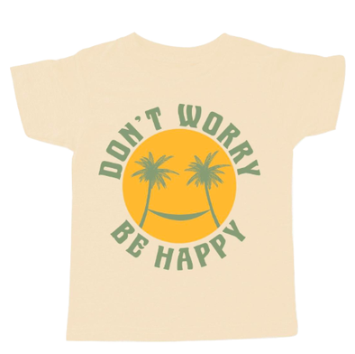 Tiny Whales Don't Worry be Happy tee