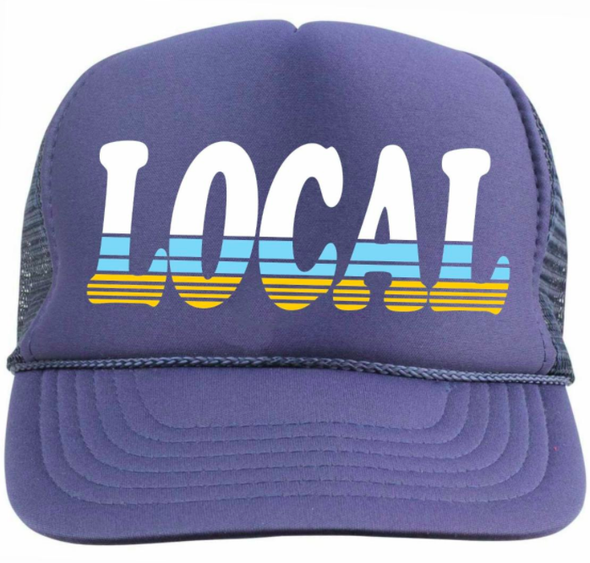 Tiny Whales LOCAL trucker hat in navy