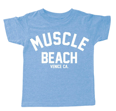 Tiny Whales Muscle Beach tee blue