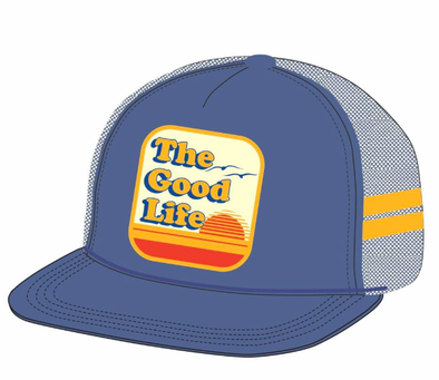 Tiny Whales - The Good Life Trucker Hat in Navy
