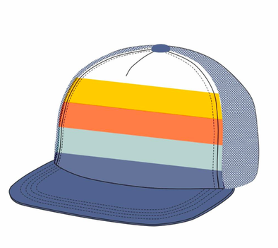 Tiny Whales - Tonal Stripes Hat in Navy
