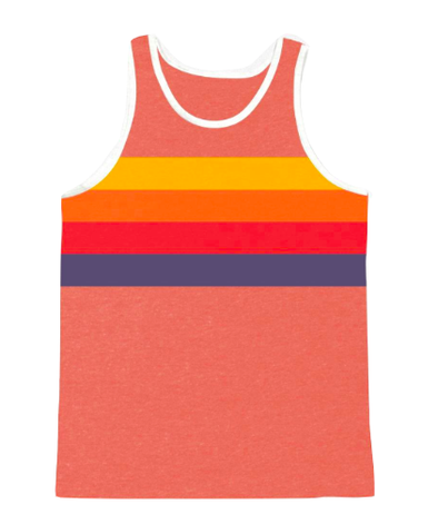 Tiny Whales - Tonal Stripes Tank in Tri-Red