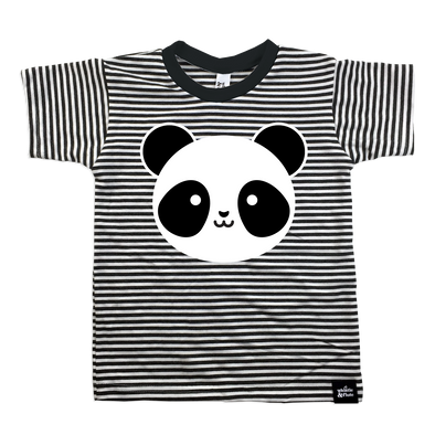Whistle & Flute panda striped tee