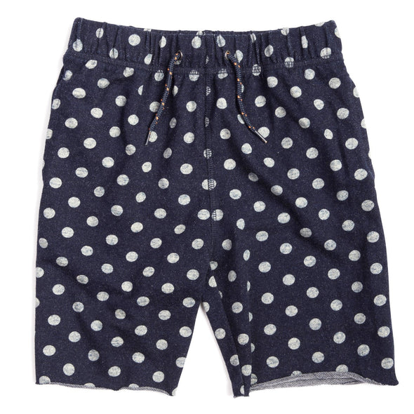 Appaman - Boys Camp Shorts in Navy with Dots