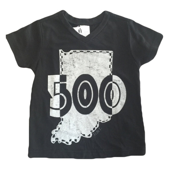 Indy's Month of May 500 V-Neck Tee in Black