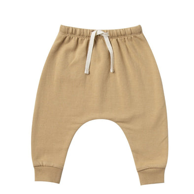 Quincy Mae organic fleece sweatpants in honey