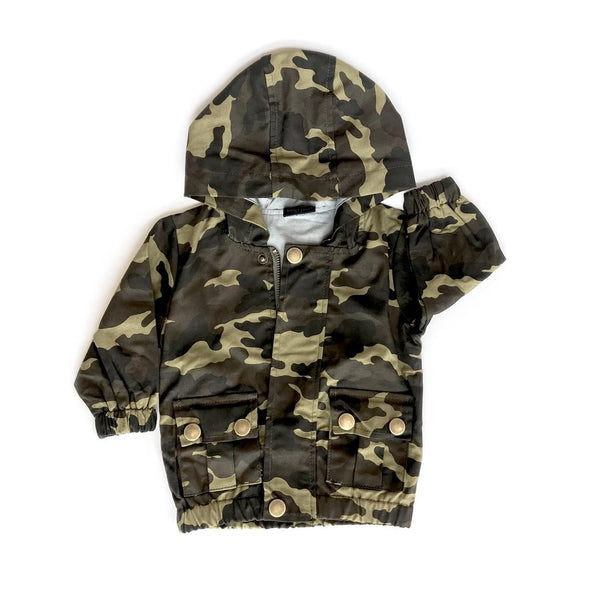 Little Bipsy - Lightweight Military Jacket in Camo