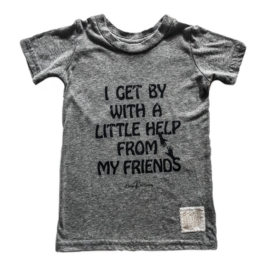 I get by with a little help from my friends kids tee