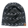 Kai + Ezra - Baby Beanie in Black with White Arrows