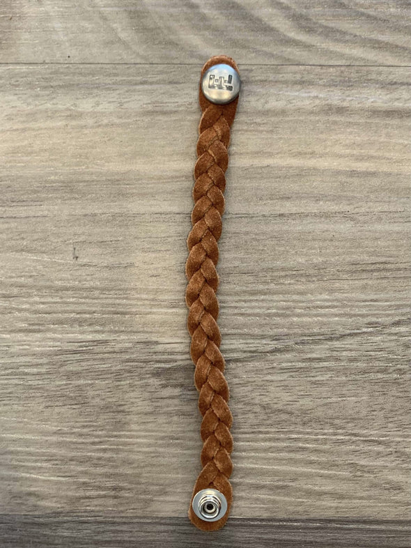 Flourish Leather Co - Kids Braided Leather Bracelet (Various Colors Available)