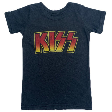 Retro Brand - Kids' KISS Tee in Heather Black