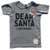 Retro Brand - Dear Santa Tee in Heather Grey