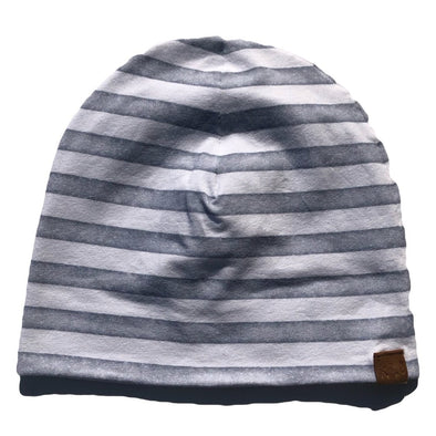 Kai + Ezra - Baby Beanie in Grey Stripe