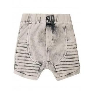kids edgy moto shorts acid grey