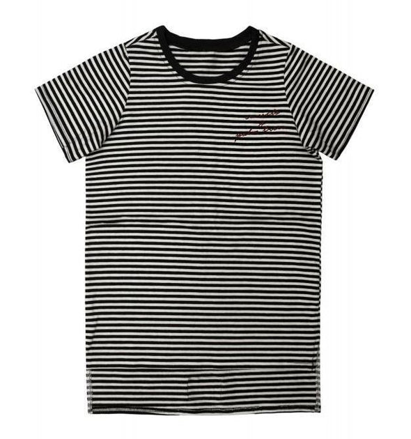 MINIKID - Mini Striped Tee in Black/White