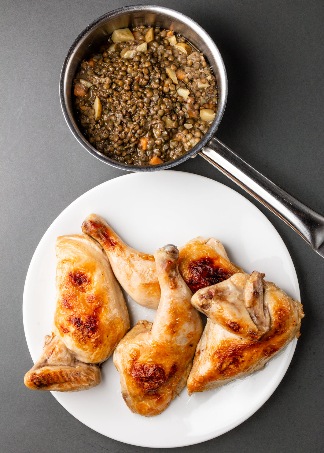 Half Green Circle Chicken + Lentils