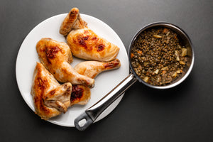 "Roast ""Michelin-Star Chicken"" + French green Lentils (Serves 3-4 people)"