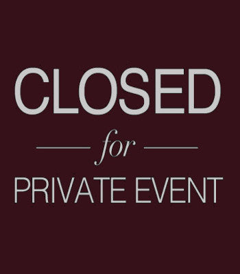 Studio Closed for Special Event