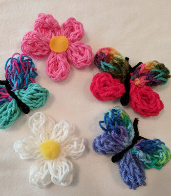 Kids Yarn Arts: Knitting Butterflies Accessories & Embroidered Keychains