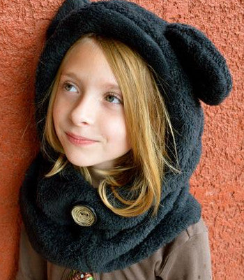 Kids Camp: Animal Hoodie Cowl Scarf