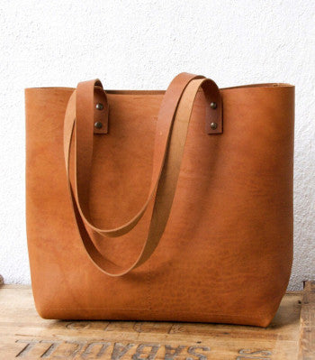 Leatherwork: Machine Sewn Leather Tote