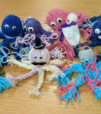 Kids Yarn Arts: Octopi & PomPom Animals