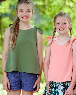 Kids Camp: Tie Tank and Shorts