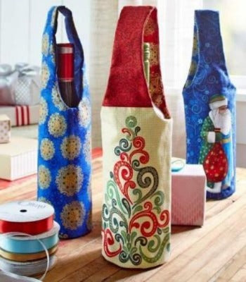 Intro to Sewing: Holiday Wine Bottle Covers