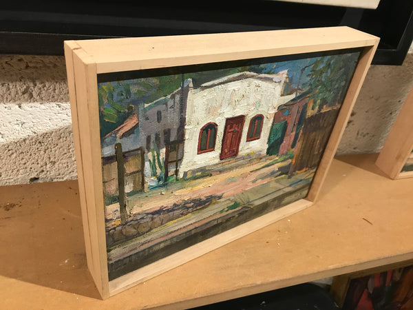 Barrio Cottage (12x9 inches, framed)