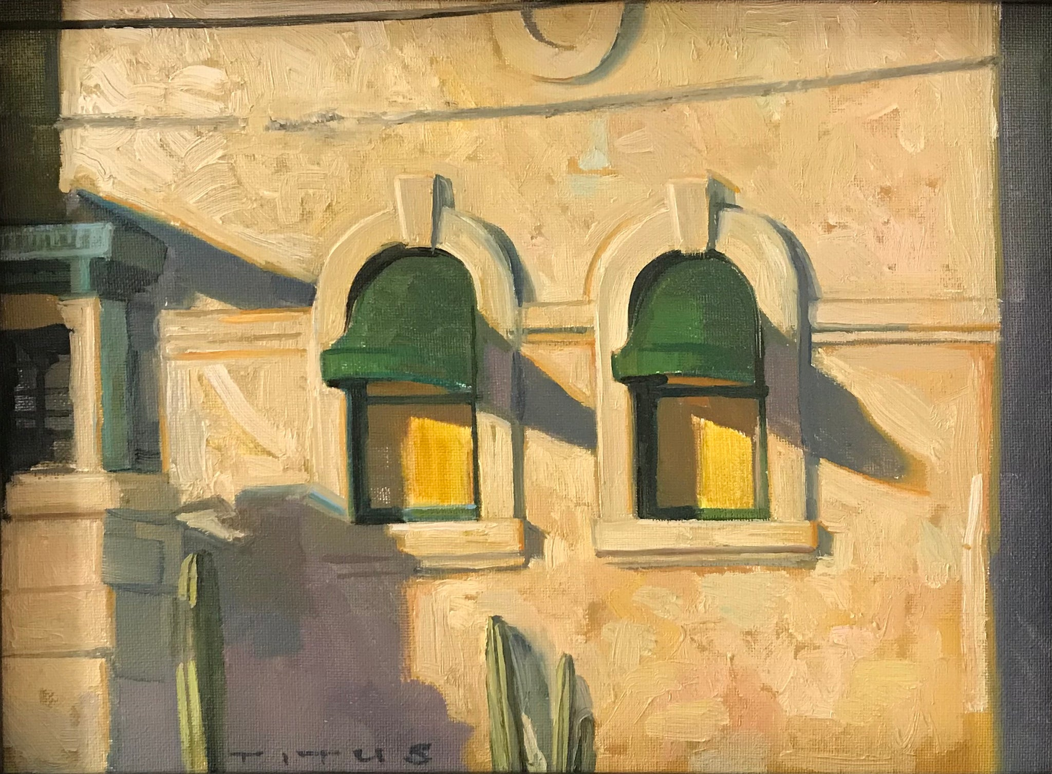 Two windows (12x9 inches, framed)