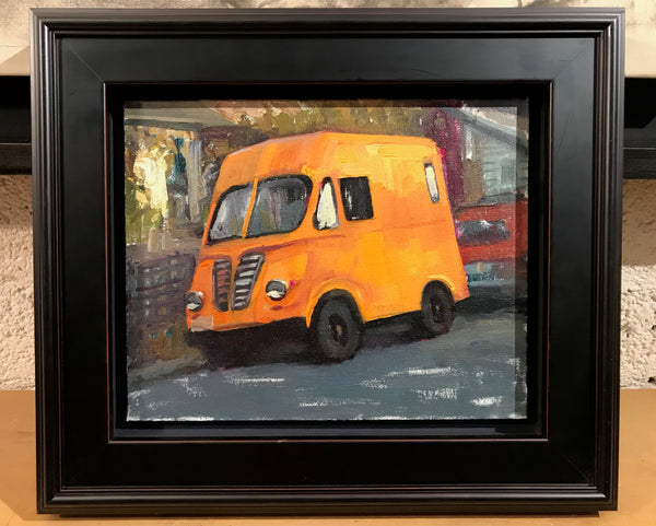 Orange Metro (10x8 inches, framed)