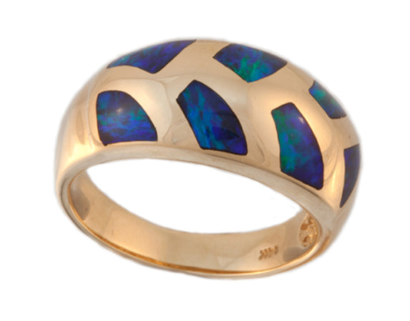 Product No.239b - Mintabie Gem Inlay Ring