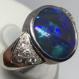 Black Opal Ring 18k Gold