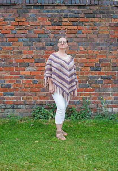 Beautiful Poncho In Pastel Colours