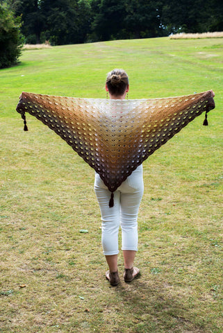 Beautiful Handmade Brown Crochet Ombre Scarf