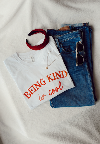 Treat People with Kindness - Handprinted T-Shirt