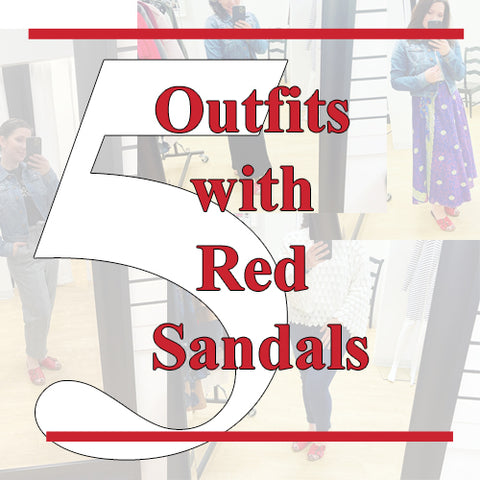 5 Outfits Ideas with a Red Sandals