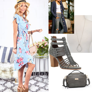 Spring Transition Outfit Inspriation: Blues & Greys