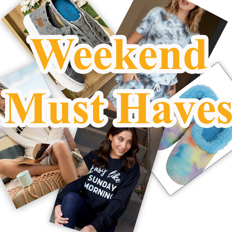 5 Comfy Must Haves for the Weekend