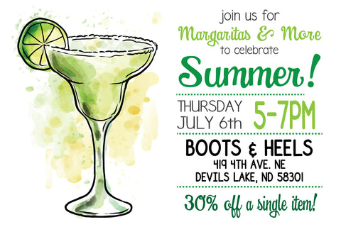 2nd Annual Margarita Party at Boots & Heels