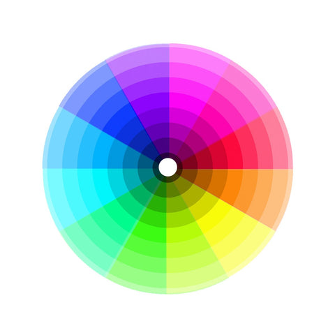 Color wheel to help you decide which colors will look good together in an outfit
