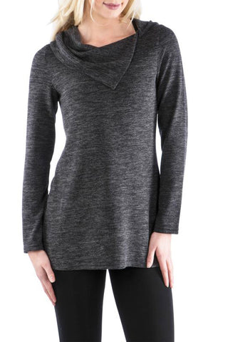 Split Cowl Neck Tunic