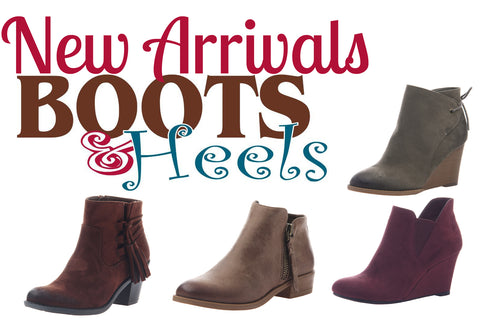 New Arrivals in Boots & Booties for Fall