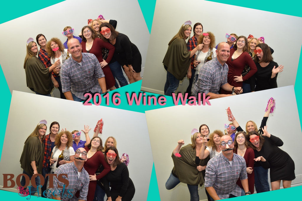 Devils Lake Chamber's Wine Walk 2016 our team photo