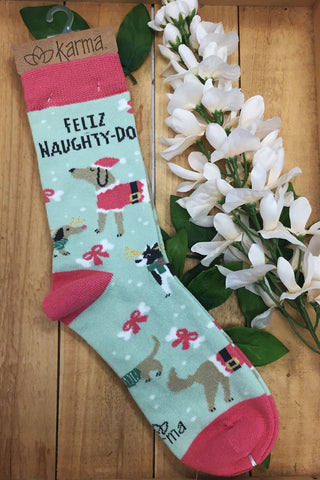 Karma Holiday Socks + Feliz
