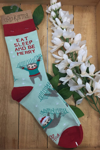 Karma Holiday Socks + Sloth